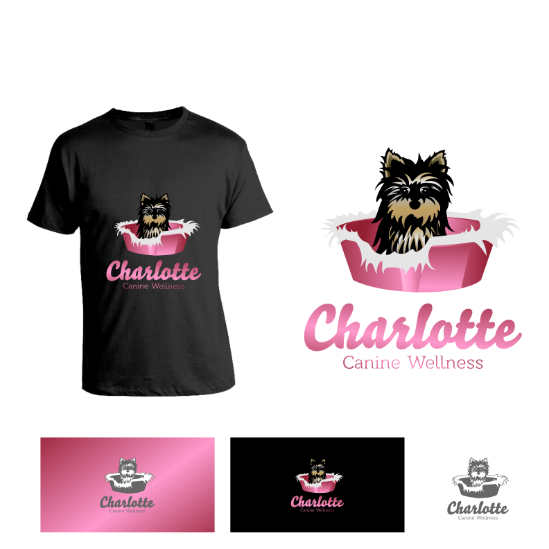 Logo Design by graphicleaf - Entry No. 60 in the Logo Design Contest New Logo Design for Charlotte Canine Wellness.