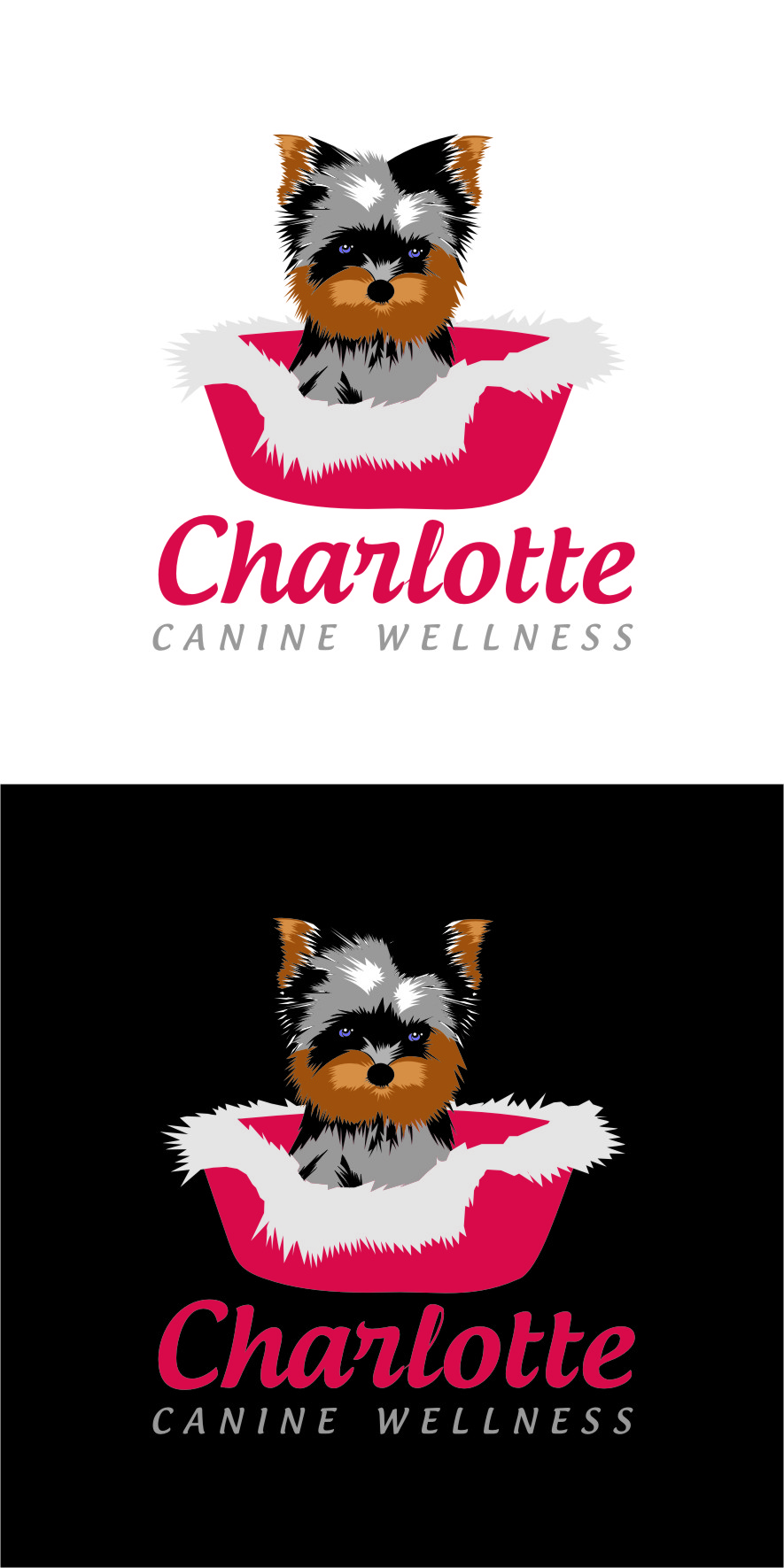 Logo Design by RasYa Muhammad Athaya - Entry No. 64 in the Logo Design Contest New Logo Design for Charlotte Canine Wellness.