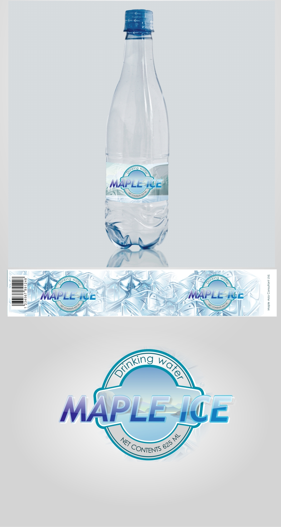 Packaging Design by Private User - Entry No. 16 in the Packaging Design Contest Unique Label/Packaging Design Wanted for Premium Bottled Water (Maple Ice).