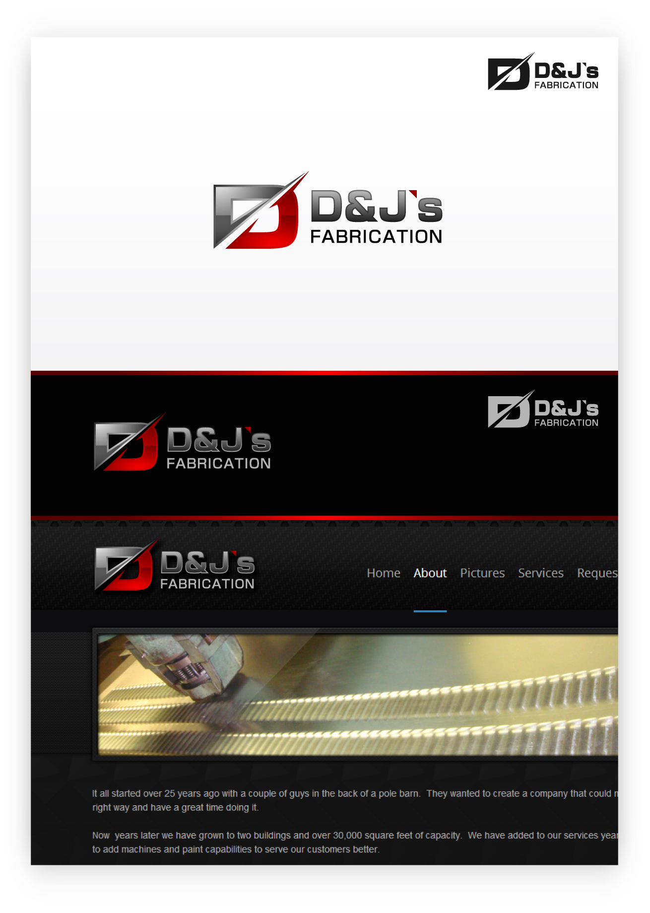 Logo Design by zoiDesign - Entry No. 11 in the Logo Design Contest Creative Logo Design for D & J's Precision Machine Services.