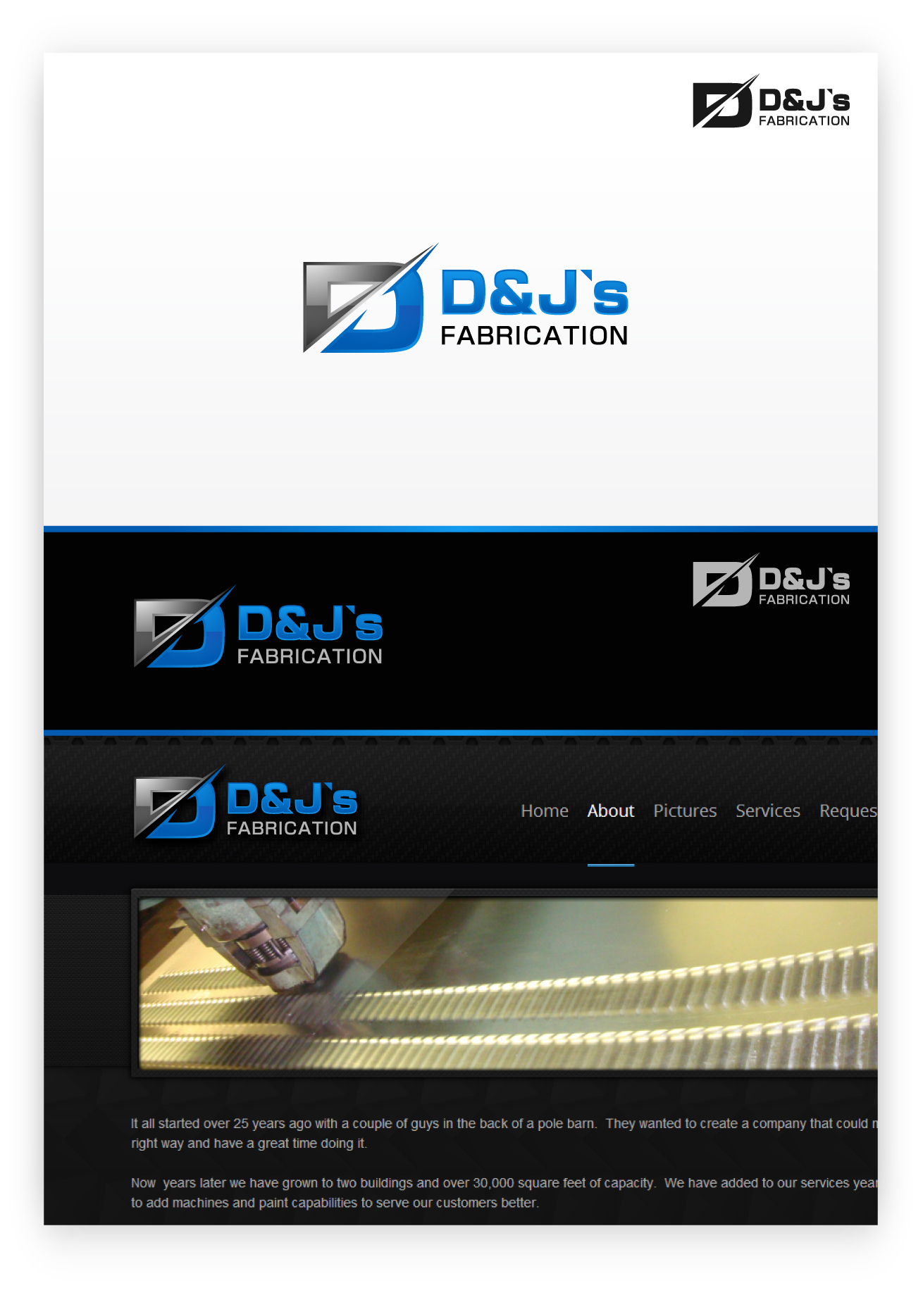 Logo Design by zoiDesign - Entry No. 12 in the Logo Design Contest Creative Logo Design for D & J's Precision Machine Services.