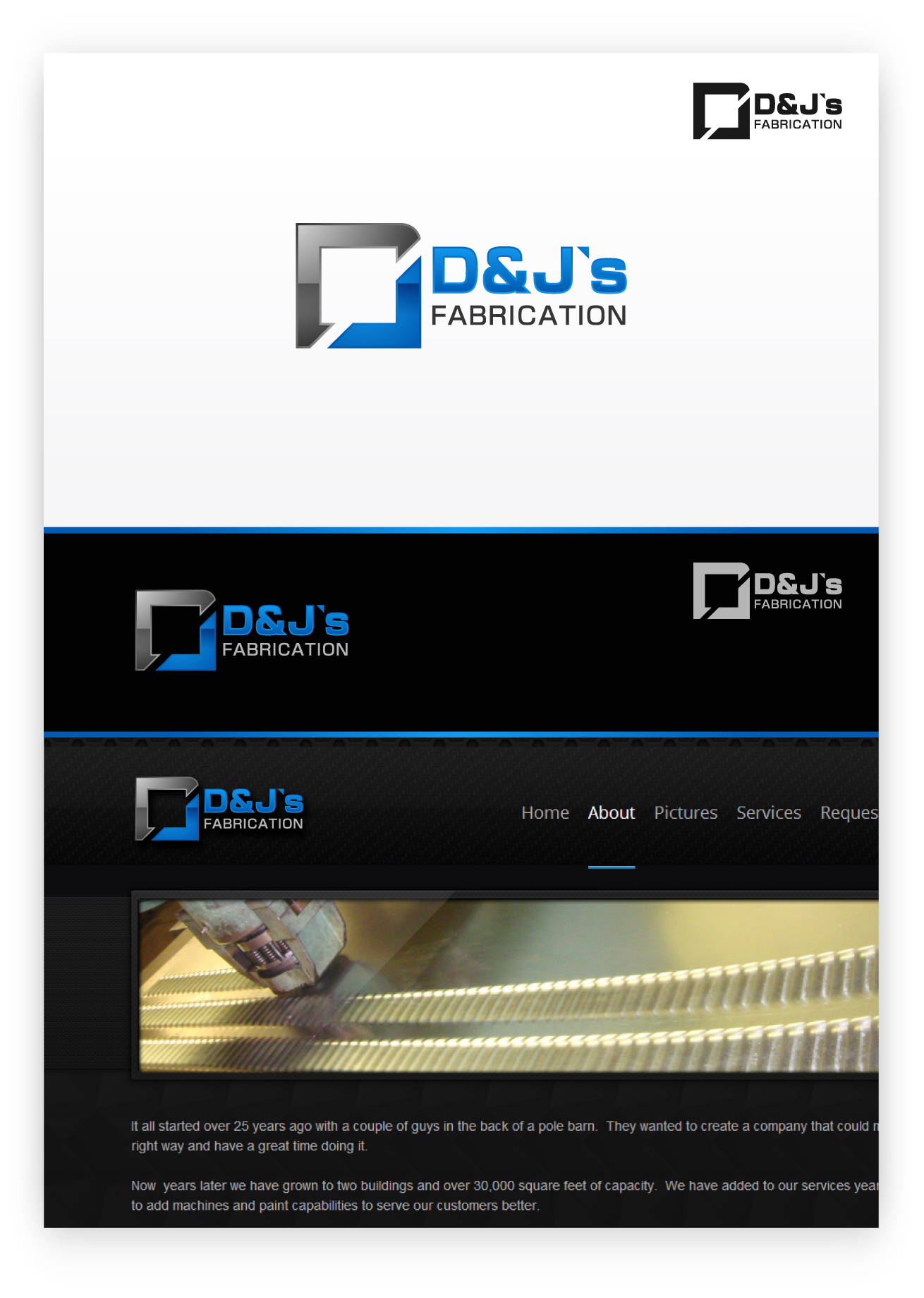 Logo Design by zoiDesign - Entry No. 13 in the Logo Design Contest Creative Logo Design for D & J's Precision Machine Services.