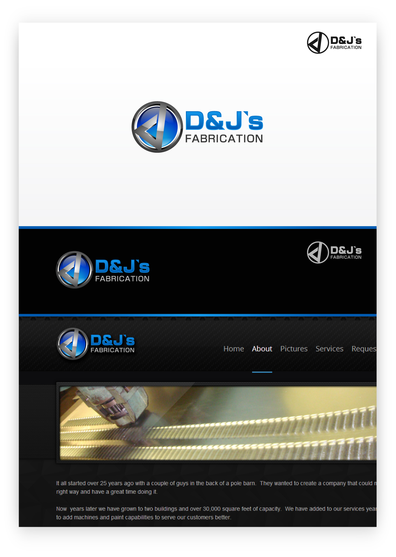 Logo Design by zoiDesign - Entry No. 17 in the Logo Design Contest Creative Logo Design for D & J's Precision Machine Services.