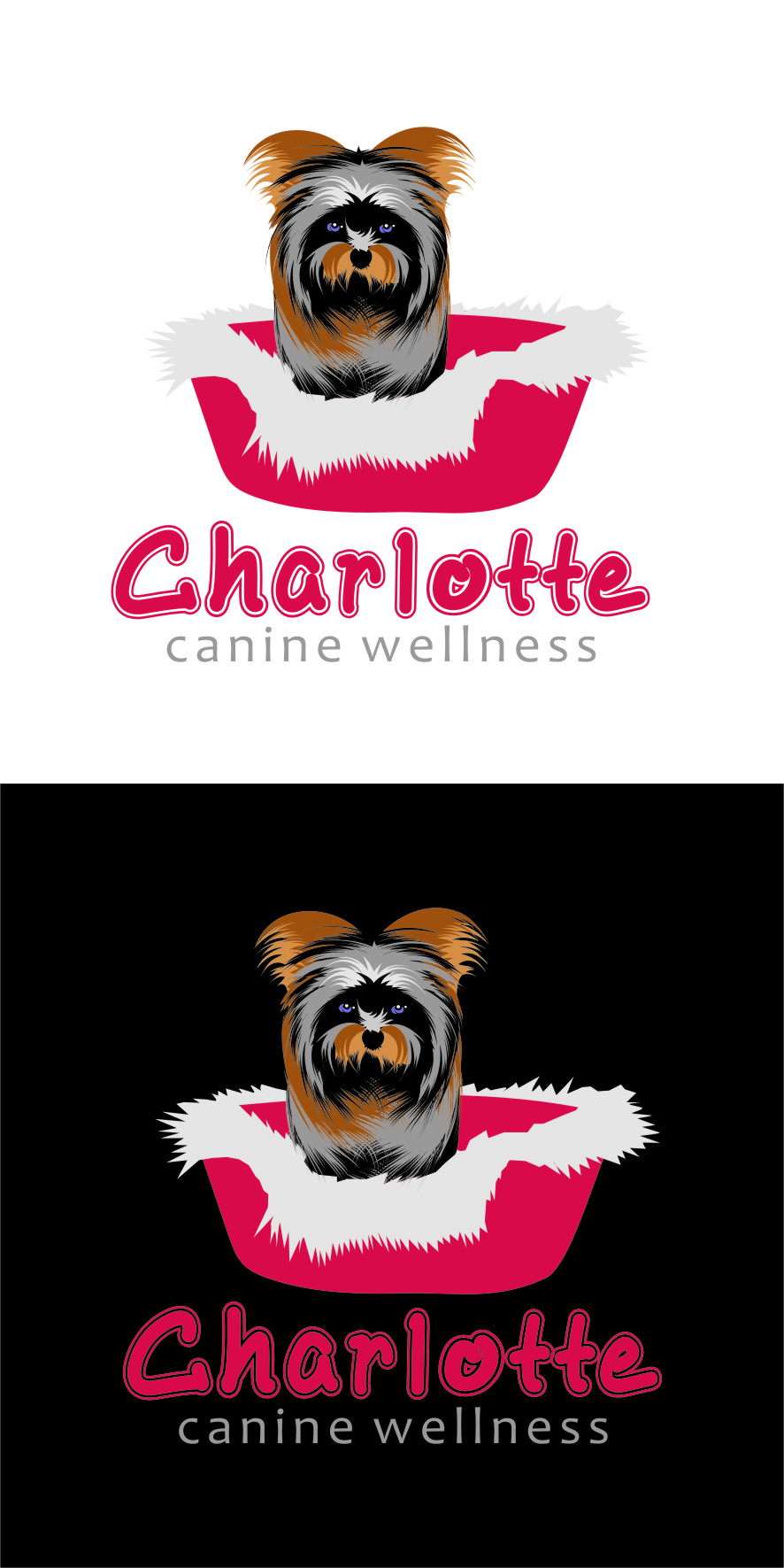 Logo Design by Ngepet_art - Entry No. 70 in the Logo Design Contest New Logo Design for Charlotte Canine Wellness.