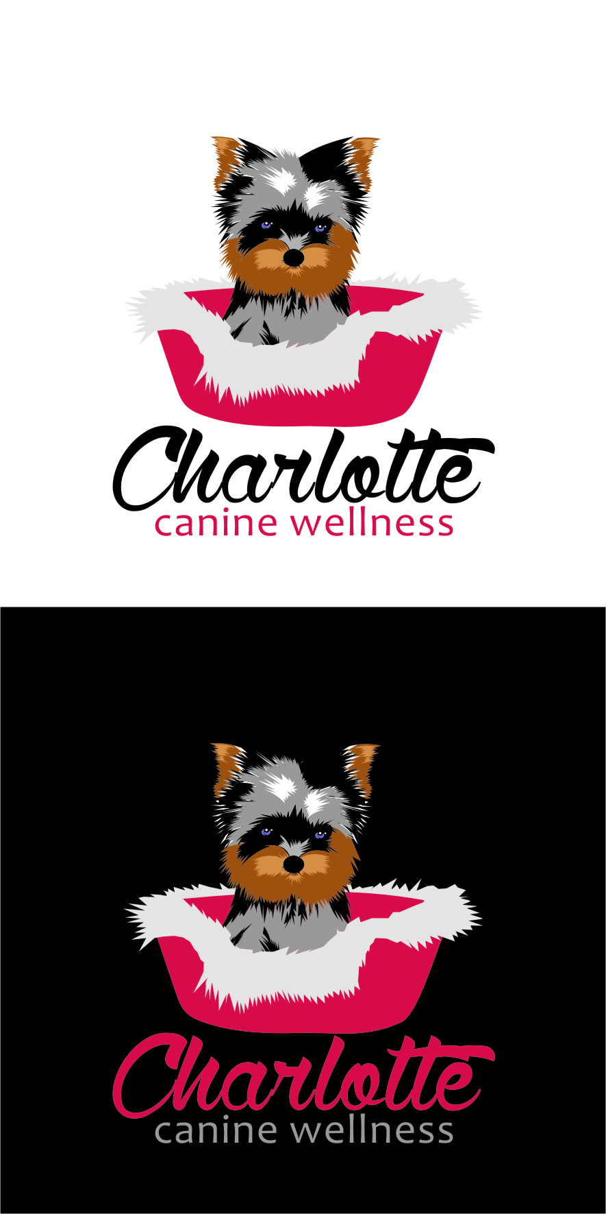 Logo Design by RasYa Muhammad Athaya - Entry No. 75 in the Logo Design Contest New Logo Design for Charlotte Canine Wellness.