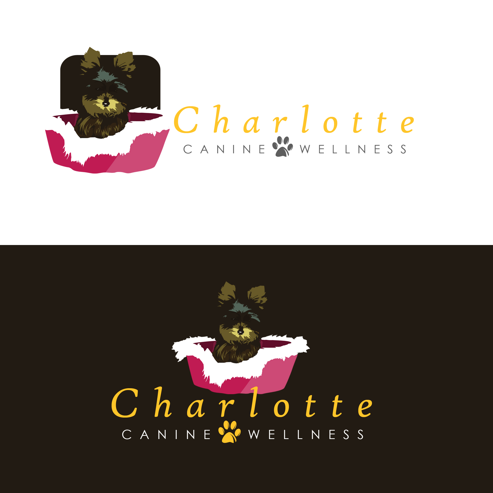 Logo Design by Kenneth Joel - Entry No. 81 in the Logo Design Contest New Logo Design for Charlotte Canine Wellness.