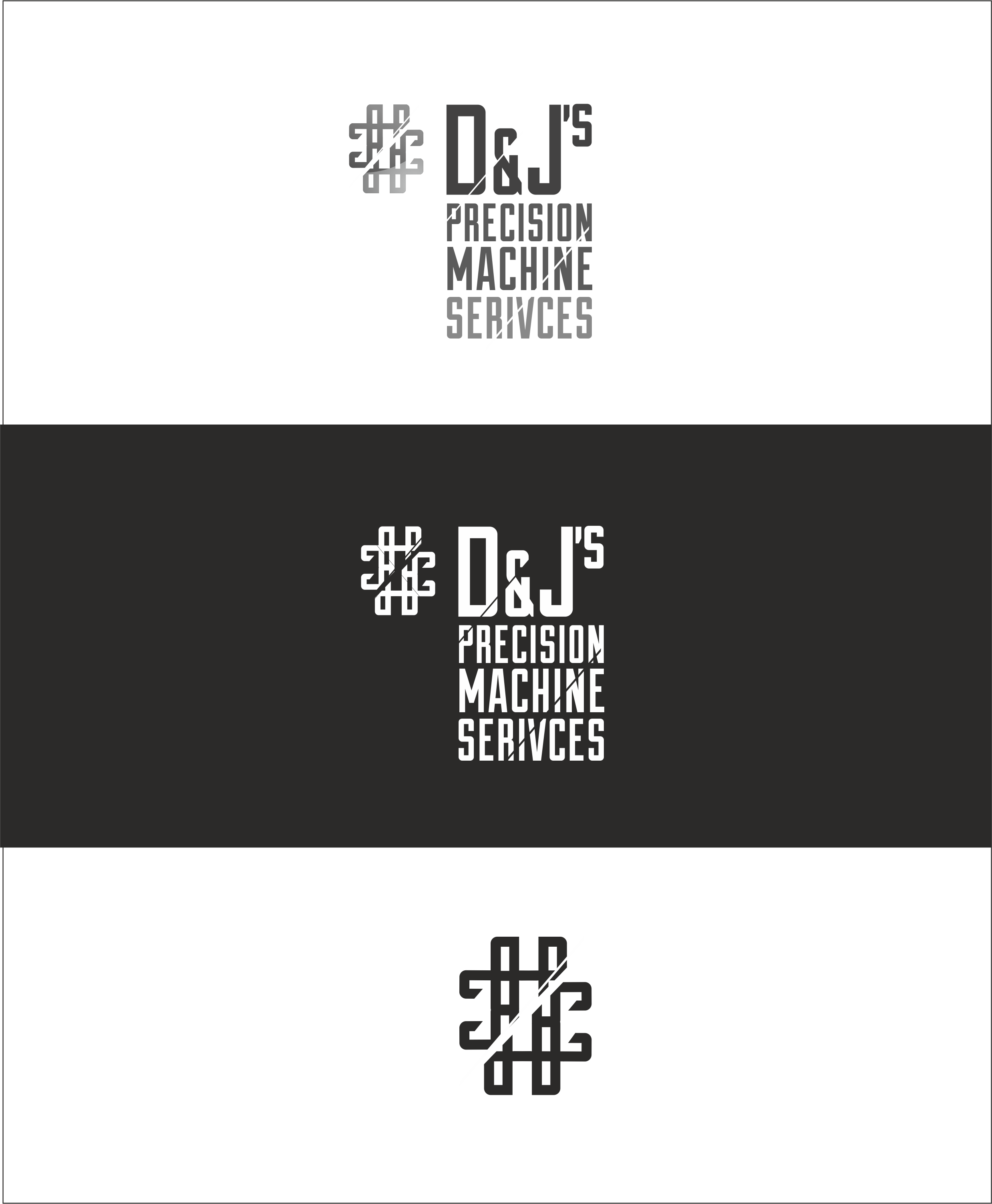 Logo Design by Galina Spirina - Entry No. 22 in the Logo Design Contest Creative Logo Design for D & J's Precision Machine Services.