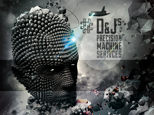 Logo Design by Galina Spirina - Entry No. 23 in the Logo Design Contest Creative Logo Design for D & J's Precision Machine Services.