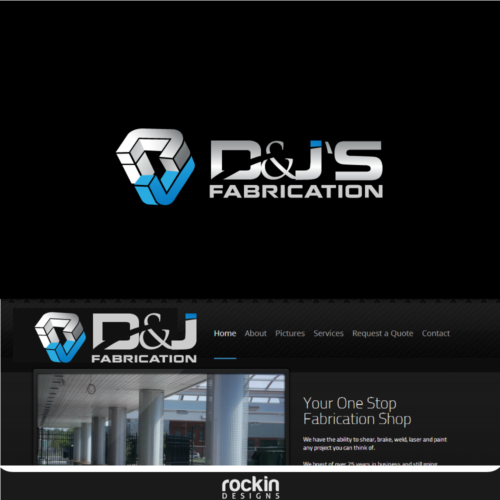 Logo Design by rockin - Entry No. 24 in the Logo Design Contest Creative Logo Design for D & J's Precision Machine Services.