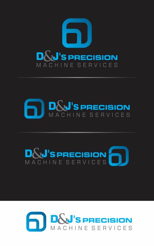 Logo Design by Chaezar Sadmoko - Entry No. 26 in the Logo Design Contest Creative Logo Design for D & J's Precision Machine Services.