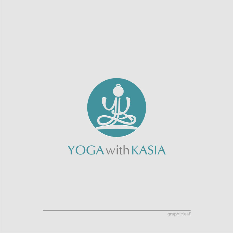 Logo Design by graphicleaf - Entry No. 14 in the Logo Design Contest Artistic Logo Design for Yoga with Kasia.