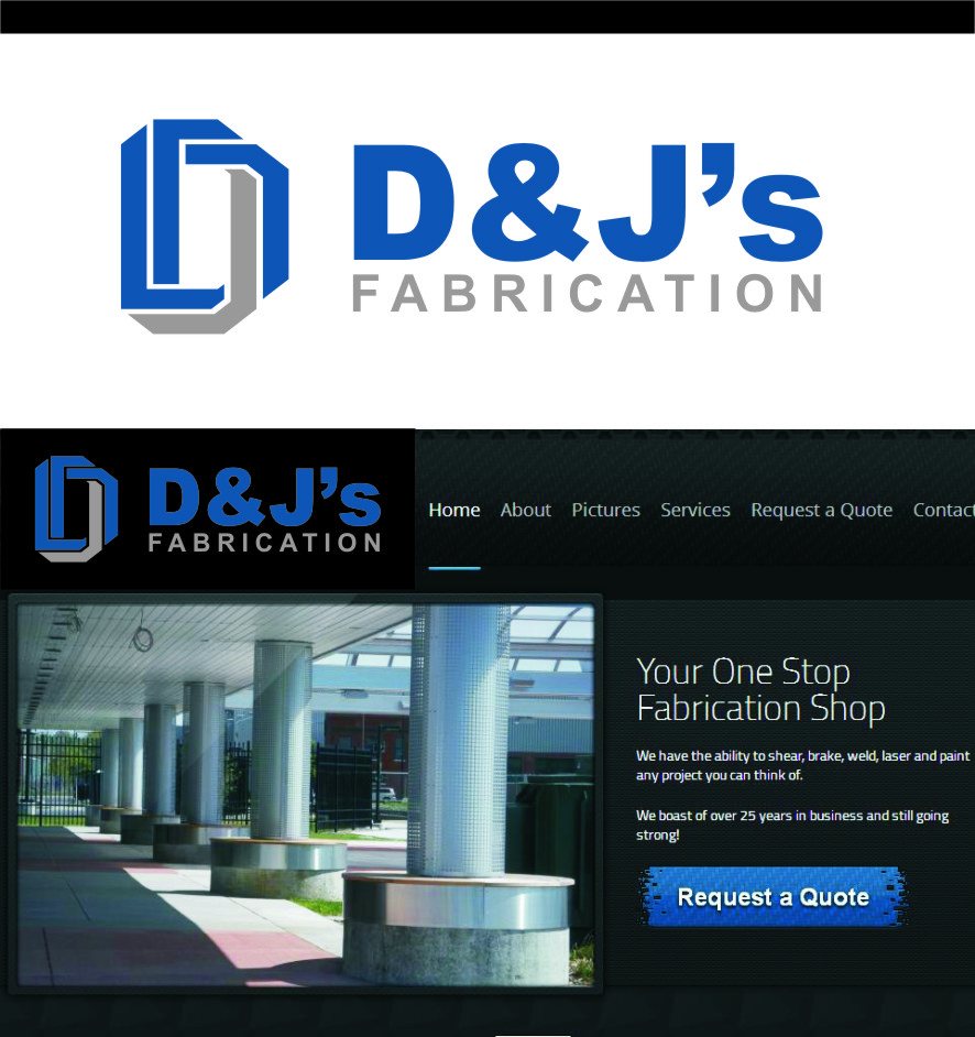 Logo Design by Ngepet_art - Entry No. 29 in the Logo Design Contest Creative Logo Design for D & J's Precision Machine Services.