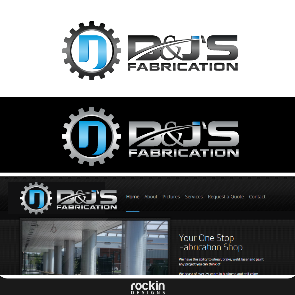 Logo Design by rockin - Entry No. 30 in the Logo Design Contest Creative Logo Design for D & J's Precision Machine Services.