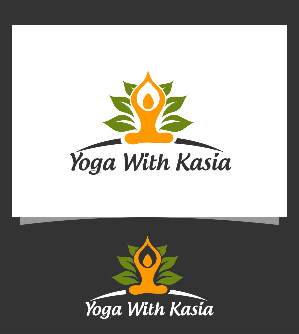 Logo Design by Ngepet_art - Entry No. 15 in the Logo Design Contest Artistic Logo Design for Yoga with Kasia.