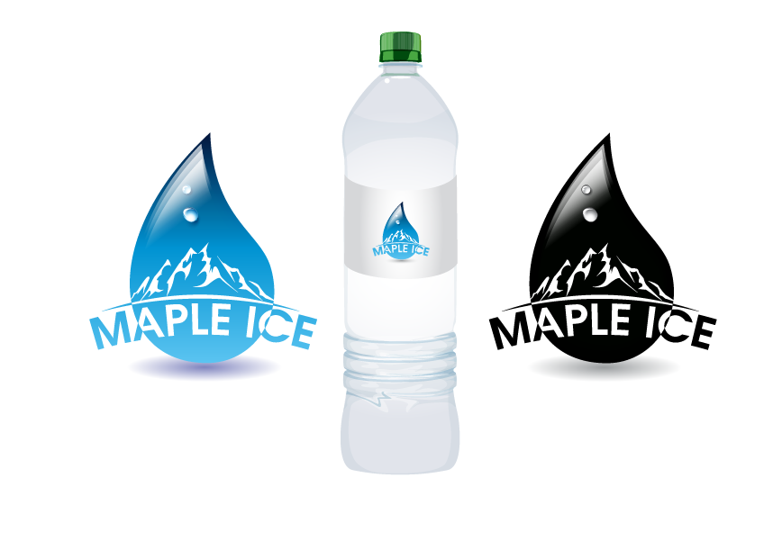Packaging Design by Private User - Entry No. 26 in the Packaging Design Contest Unique Label/Packaging Design Wanted for Premium Bottled Water (Maple Ice).