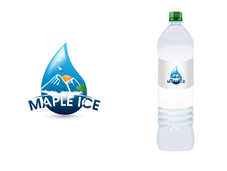 Packaging Design by Private User - Entry No. 27 in the Packaging Design Contest Unique Label/Packaging Design Wanted for Premium Bottled Water (Maple Ice).