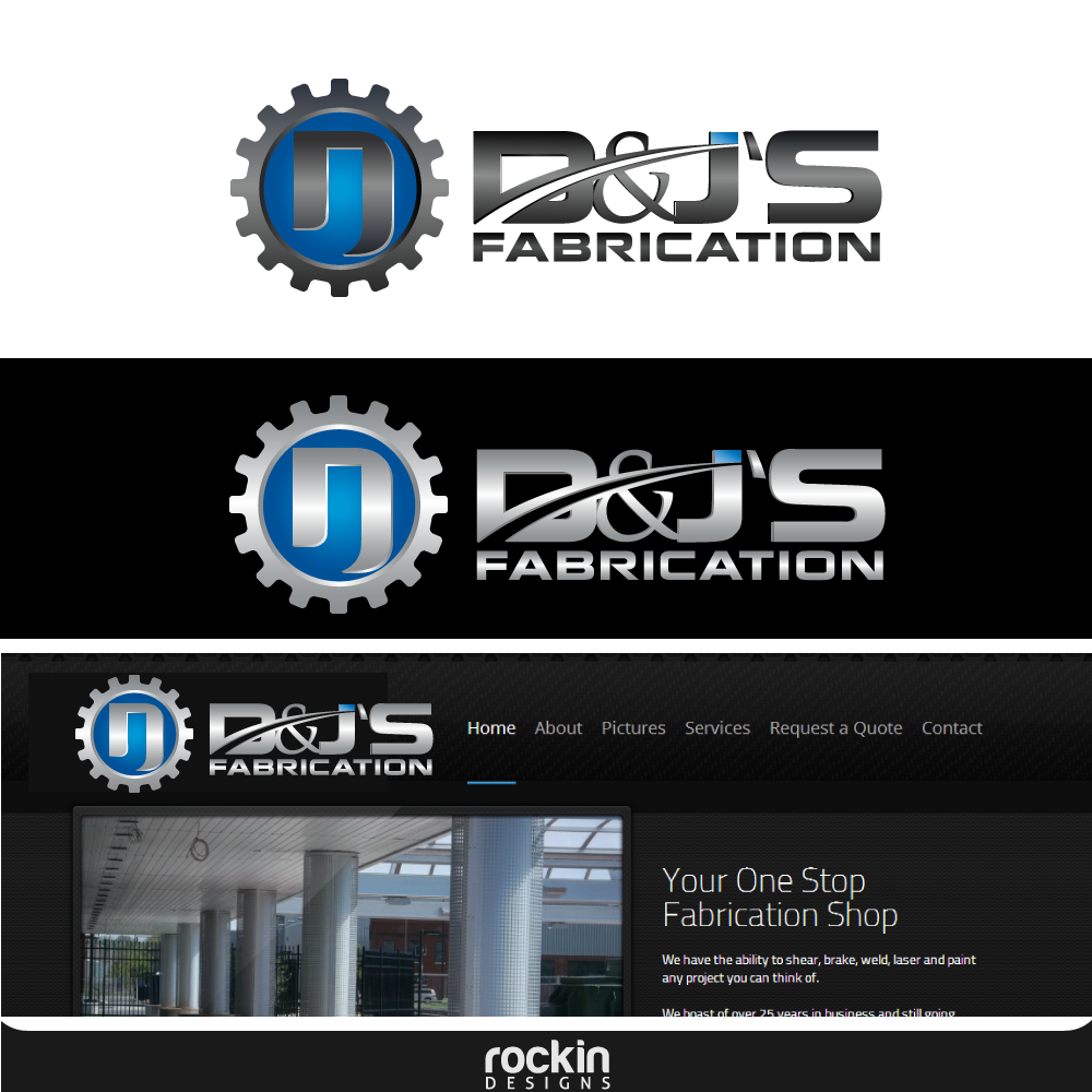 Logo Design by rockin - Entry No. 40 in the Logo Design Contest Creative Logo Design for D & J's Precision Machine Services.