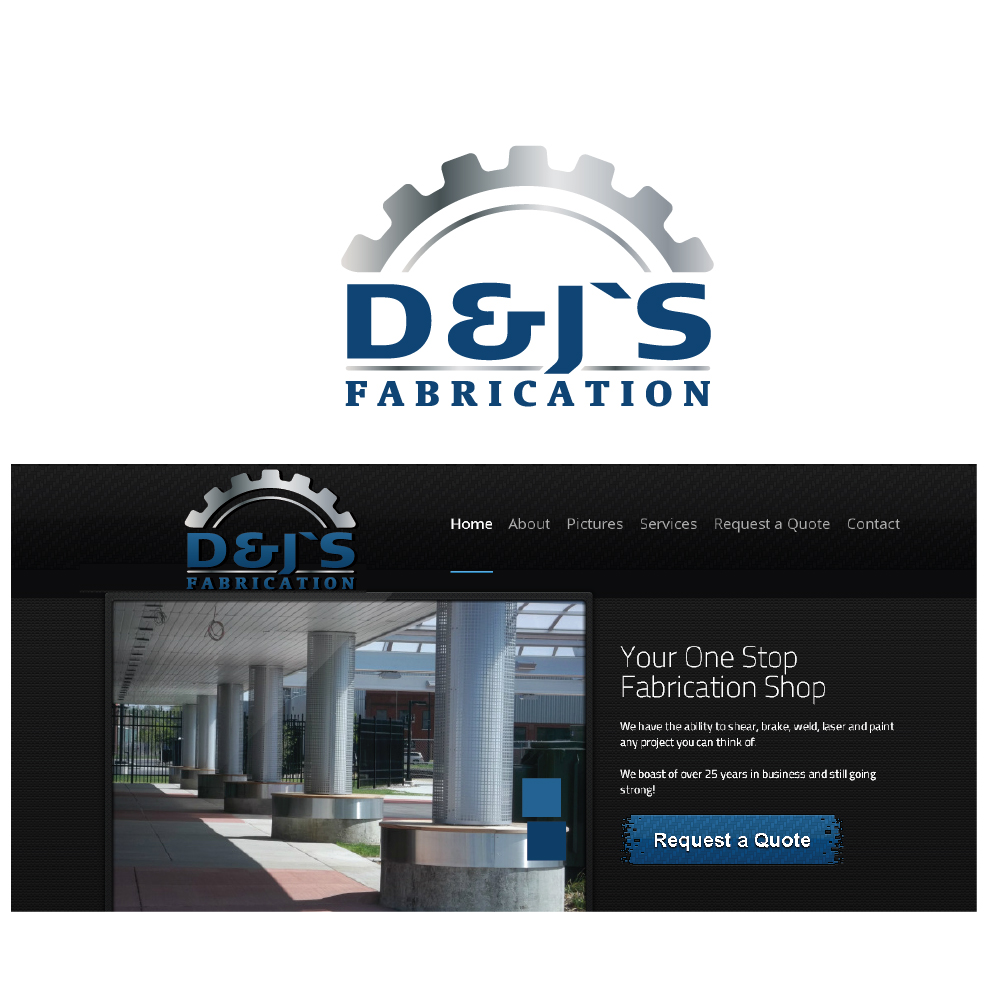 Logo Design by danelav - Entry No. 48 in the Logo Design Contest Creative Logo Design for D & J's Precision Machine Services.
