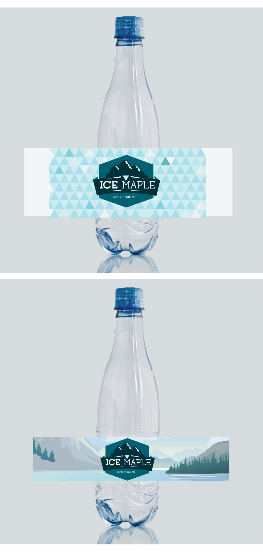 Packaging Design by Private User - Entry No. 38 in the Packaging Design Contest Unique Label/Packaging Design Wanted for Premium Bottled Water (Maple Ice).