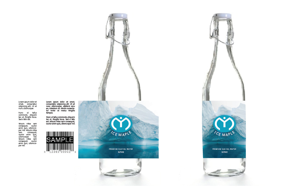 Packaging Design by Christina Evans - Entry No. 39 in the Packaging Design Contest Unique Label/Packaging Design Wanted for Premium Bottled Water (Maple Ice).