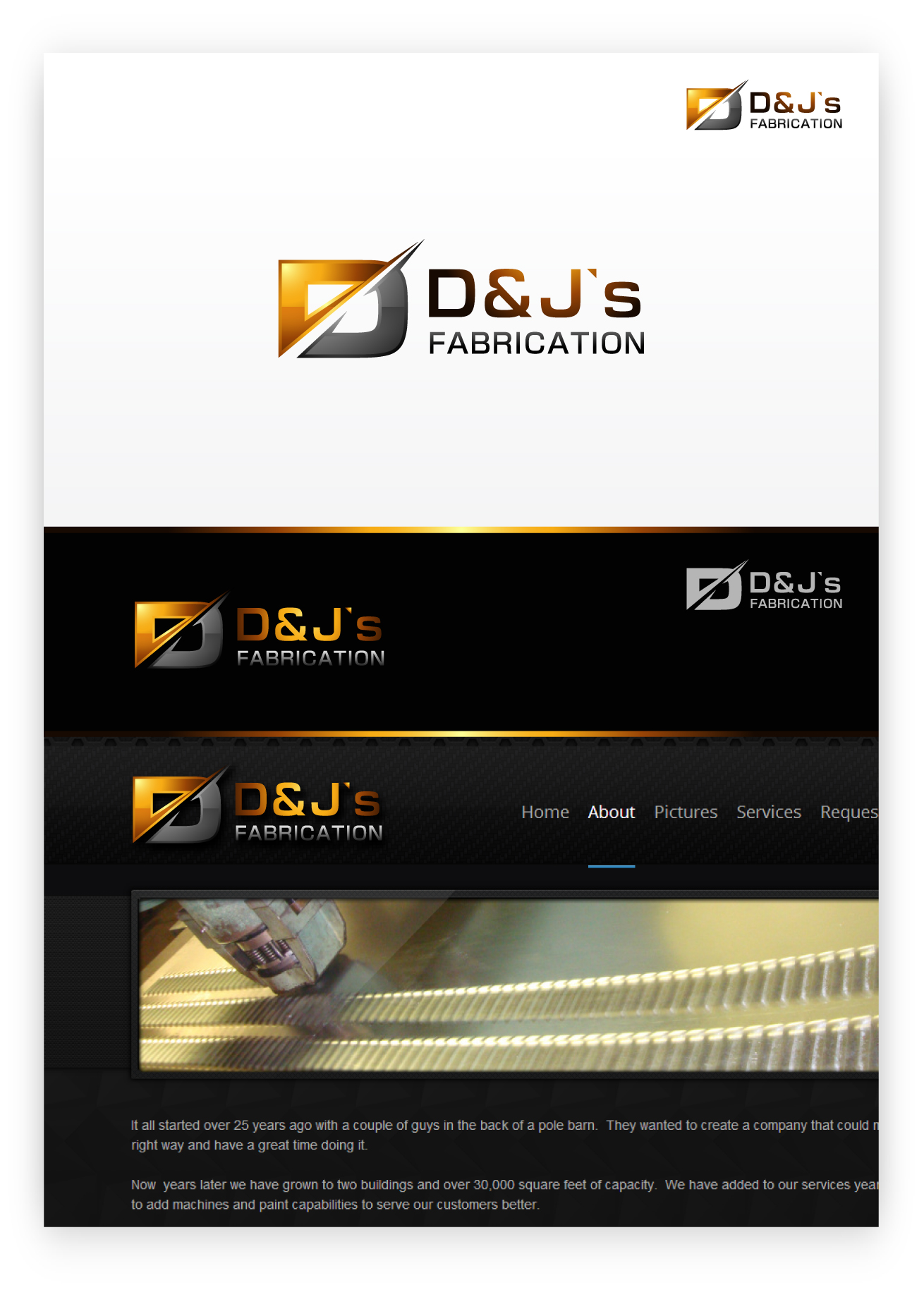 Logo Design by zoiDesign - Entry No. 49 in the Logo Design Contest Creative Logo Design for D & J's Precision Machine Services.