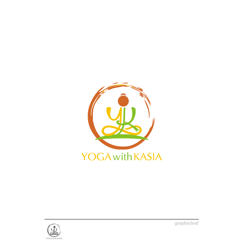 Logo Design by graphicleaf - Entry No. 24 in the Logo Design Contest Artistic Logo Design for Yoga with Kasia.