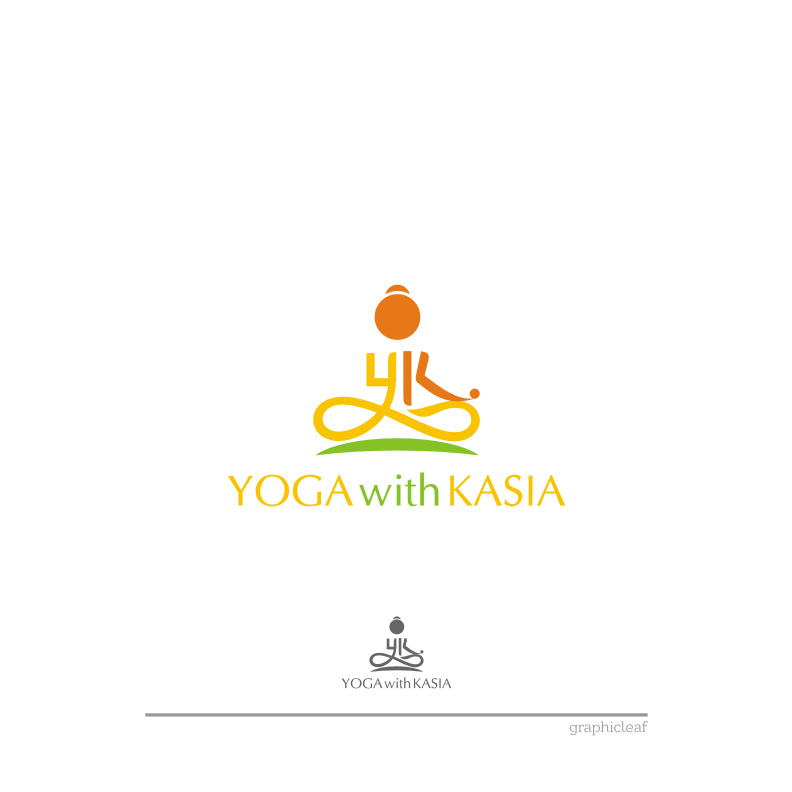 Logo Design by graphicleaf - Entry No. 28 in the Logo Design Contest Artistic Logo Design for Yoga with Kasia.