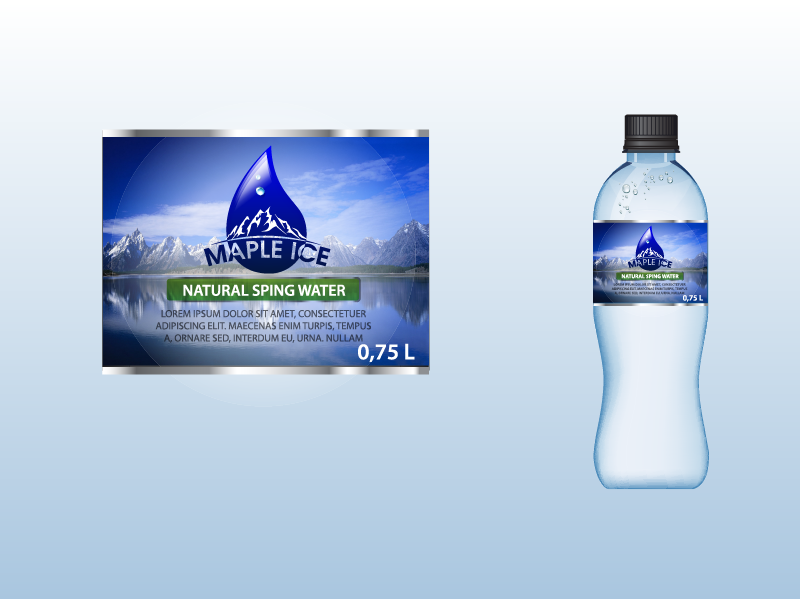Packaging Design by Private User - Entry No. 41 in the Packaging Design Contest Unique Label/Packaging Design Wanted for Premium Bottled Water (Maple Ice).