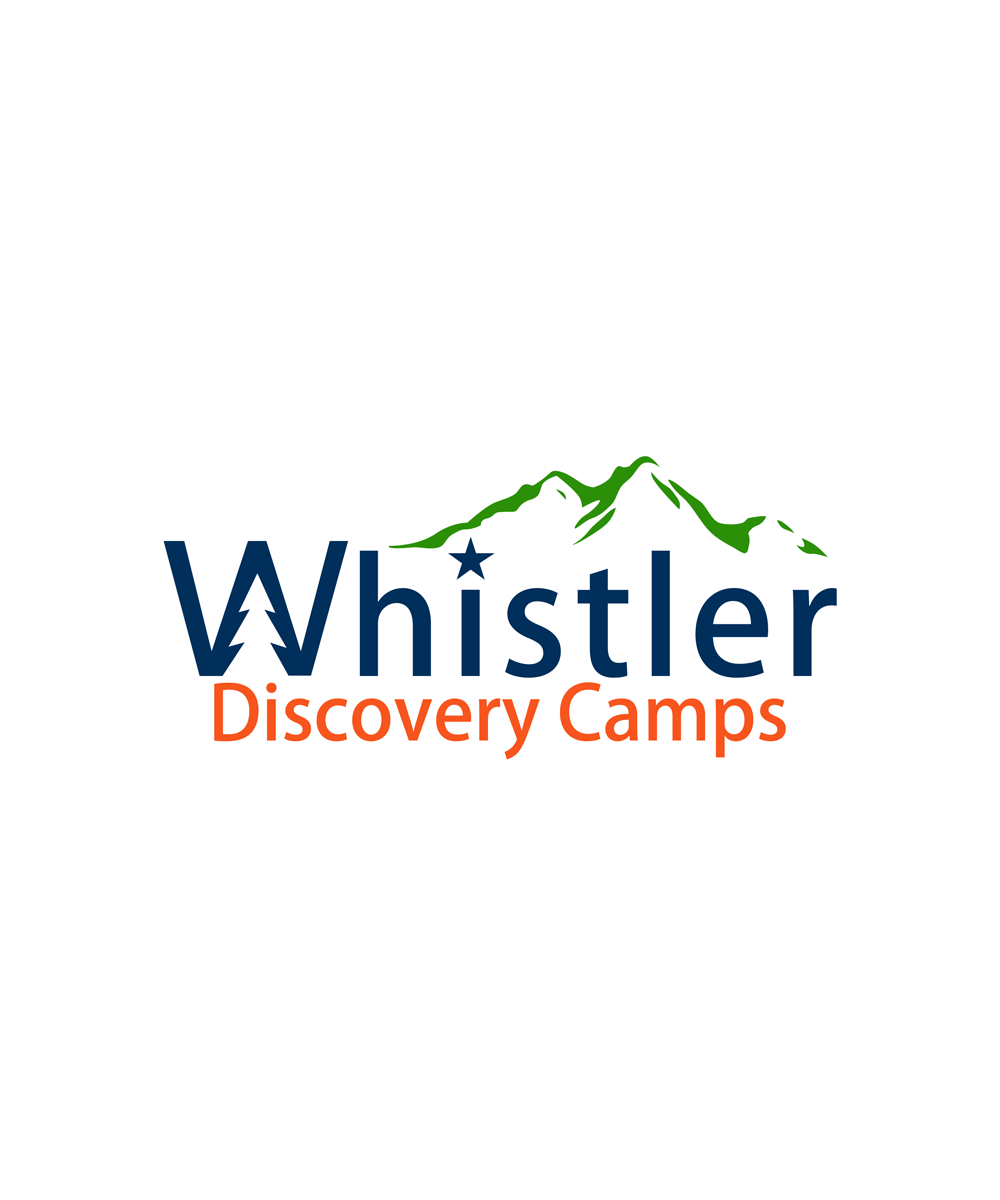 Logo Design by Private User - Entry No. 100 in the Logo Design Contest Captivating Logo Design for Whistler Discovery Camps.