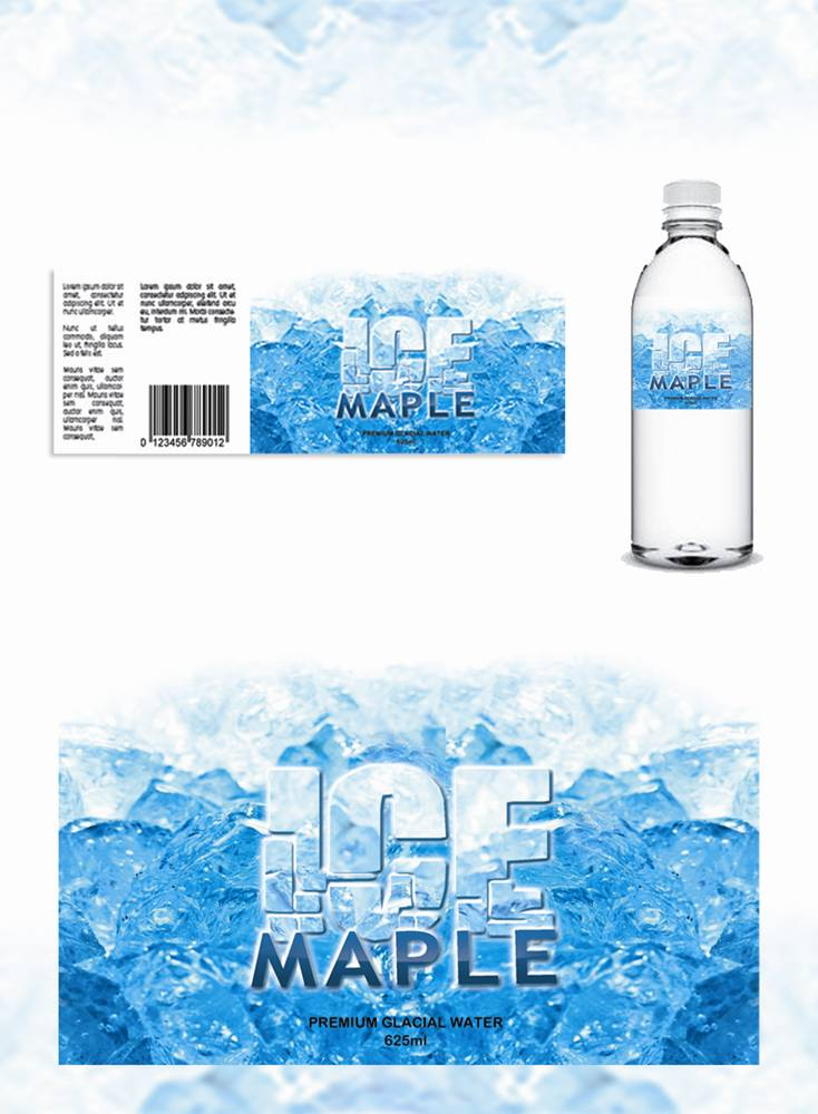 Packaging Design by Respati Himawan - Entry No. 46 in the Packaging Design Contest Unique Label/Packaging Design Wanted for Premium Bottled Water (Maple Ice).