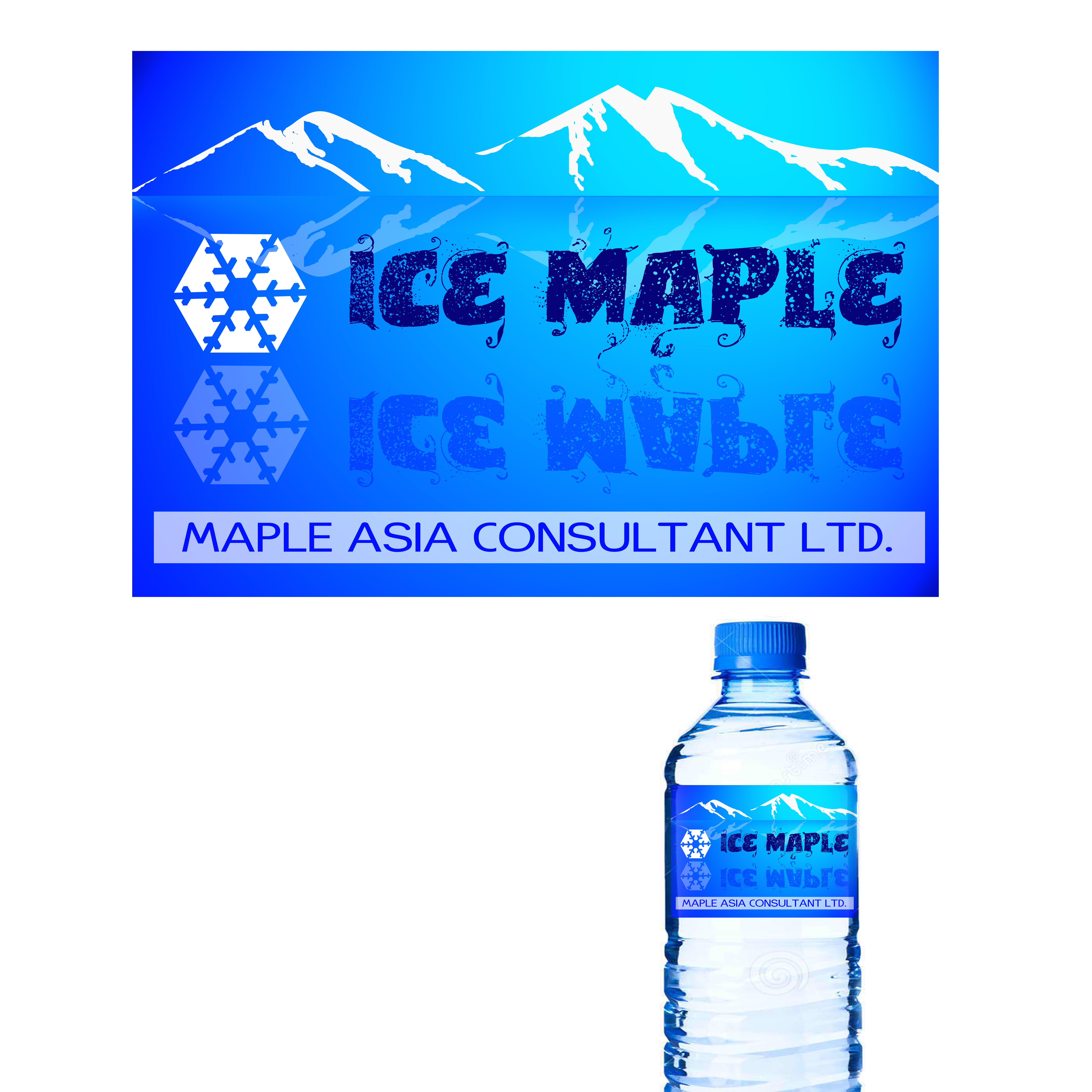 Packaging Design by Allan Esclamado - Entry No. 48 in the Packaging Design Contest Unique Label/Packaging Design Wanted for Premium Bottled Water (Maple Ice).