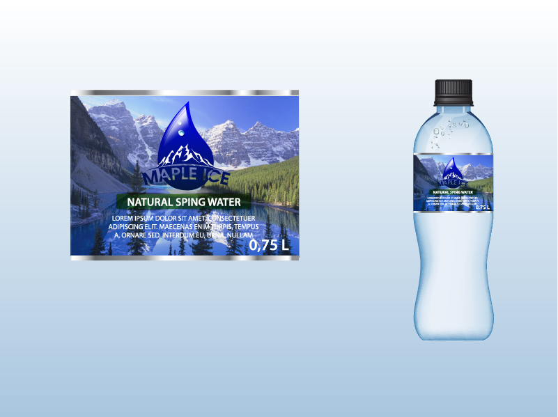 Packaging Design by Private User - Entry No. 49 in the Packaging Design Contest Unique Label/Packaging Design Wanted for Premium Bottled Water (Maple Ice).