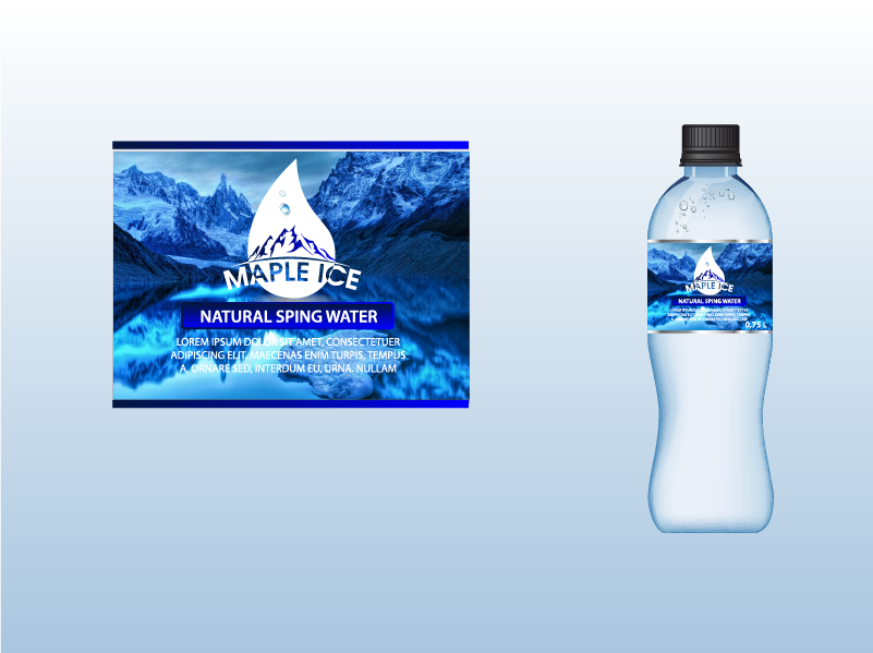Packaging Design by Private User - Entry No. 50 in the Packaging Design Contest Unique Label/Packaging Design Wanted for Premium Bottled Water (Maple Ice).