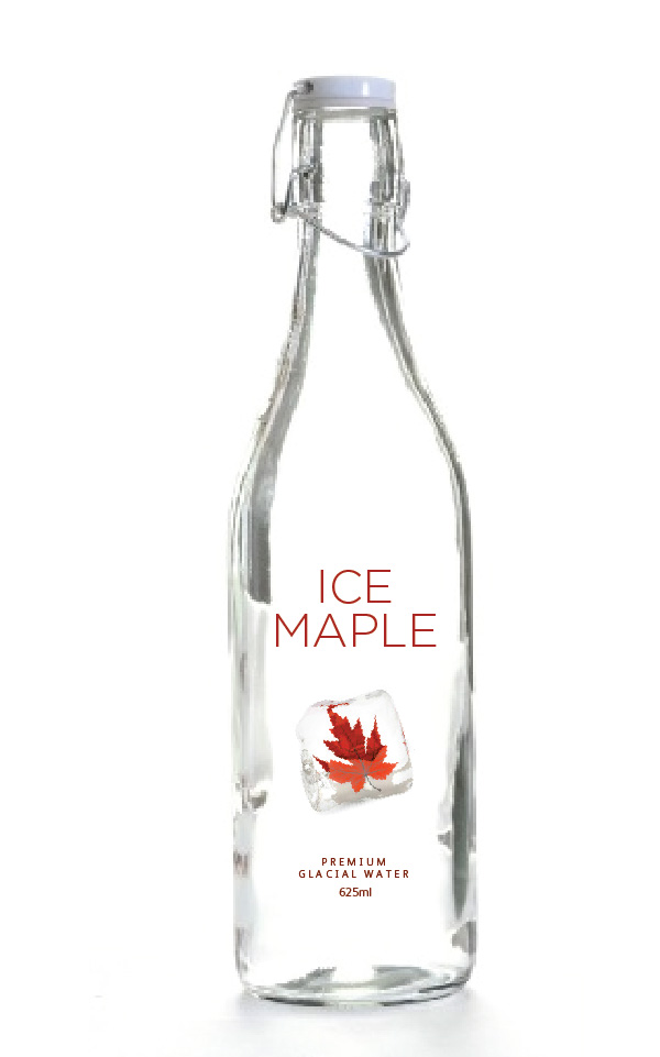 Packaging Design by Christina Evans - Entry No. 52 in the Packaging Design Contest Unique Label/Packaging Design Wanted for Premium Bottled Water (Maple Ice).