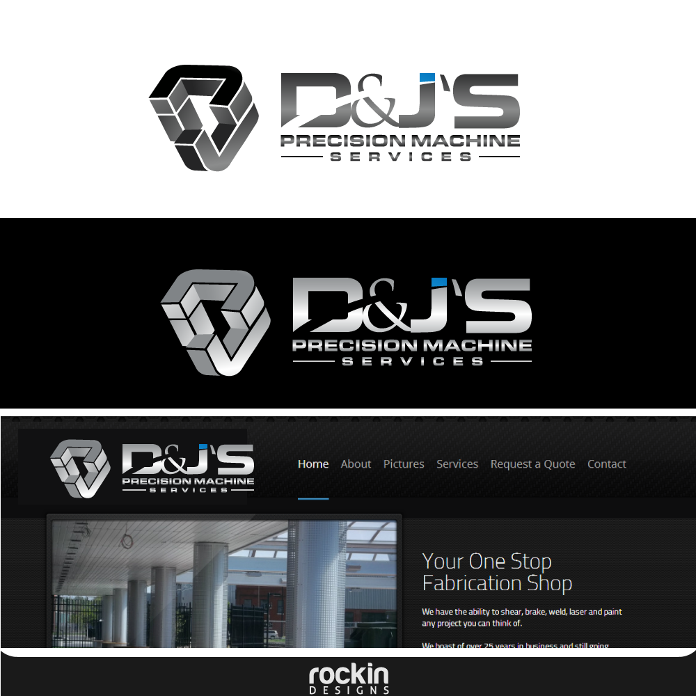 Logo Design by rockin - Entry No. 64 in the Logo Design Contest Creative Logo Design for D & J's Precision Machine Services.