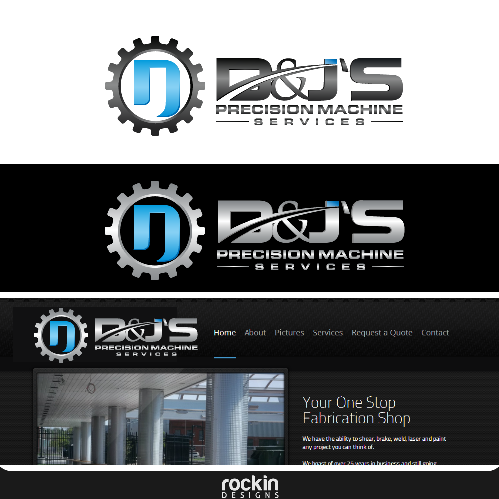 Logo Design by rockin - Entry No. 67 in the Logo Design Contest Creative Logo Design for D & J's Precision Machine Services.