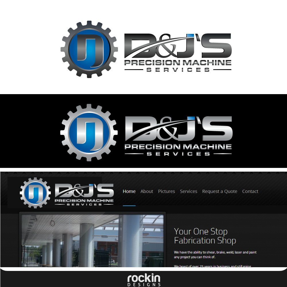Logo Design by rockin - Entry No. 68 in the Logo Design Contest Creative Logo Design for D & J's Precision Machine Services.