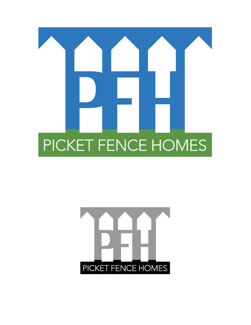 Logo Design by Christina Evans - Entry No. 6 in the Logo Design Contest Picket Fence Homes Logo Design.