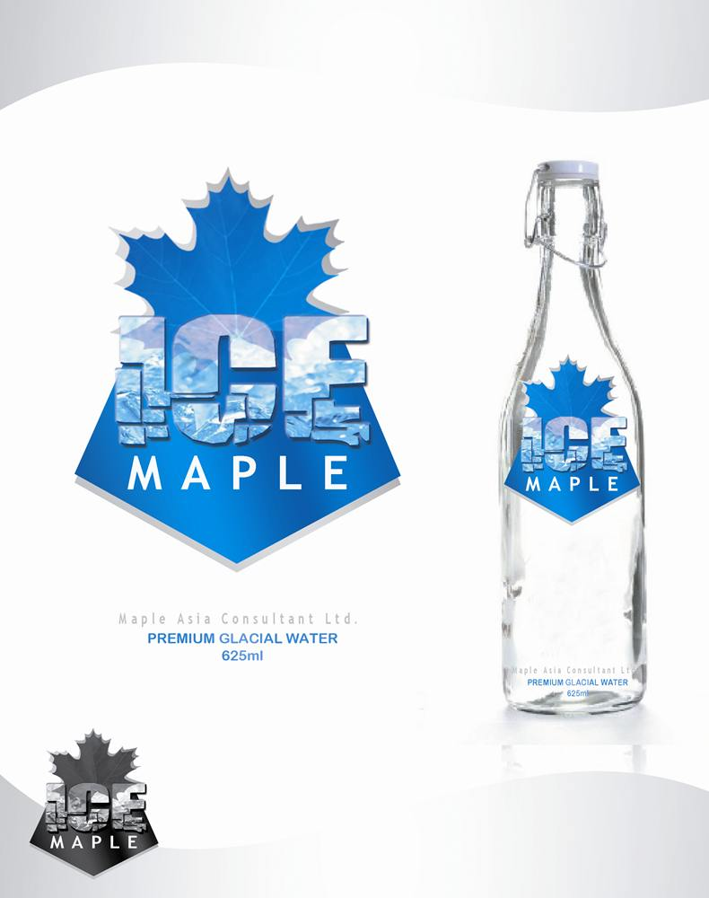 Packaging Design by Respati Himawan - Entry No. 56 in the Packaging Design Contest Unique Label/Packaging Design Wanted for Premium Bottled Water (Maple Ice).