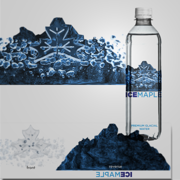 Packaging Design by Private User - Entry No. 60 in the Packaging Design Contest Unique Label/Packaging Design Wanted for Premium Bottled Water (Maple Ice).