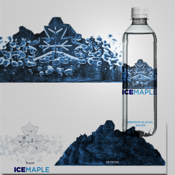 Packaging Design by Private User - Entry No. 63 in the Packaging Design Contest Unique Label/Packaging Design Wanted for Premium Bottled Water (Maple Ice).