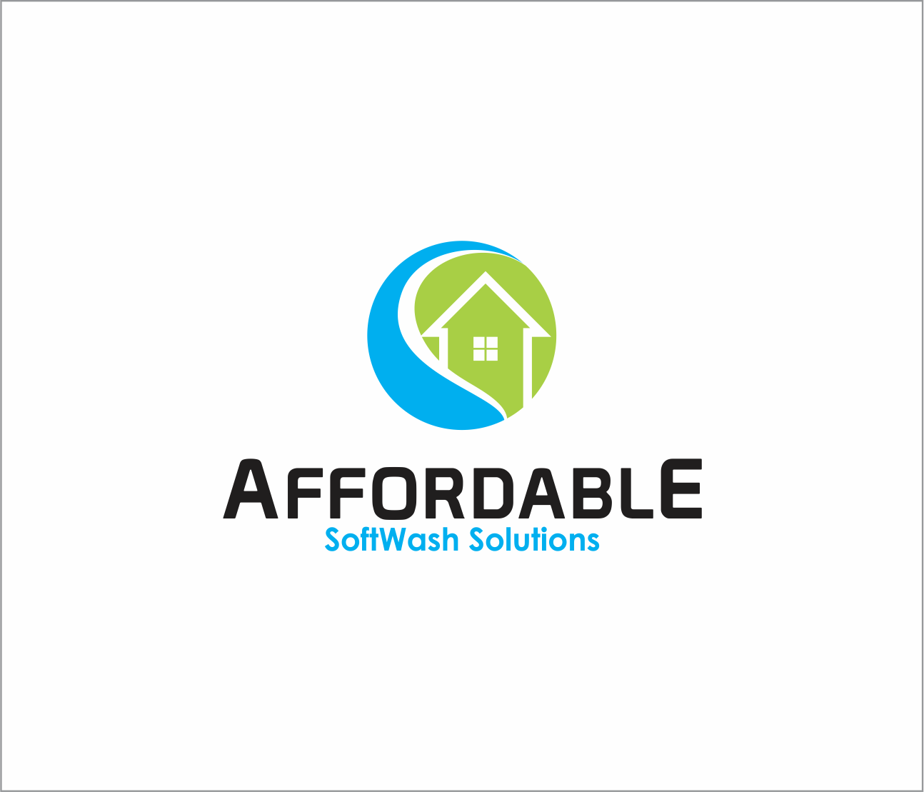 Logo Design by Armada Jamaluddin - Entry No. 32 in the Logo Design Contest Imaginative Logo Design for Affordable SoftWash Solutions.