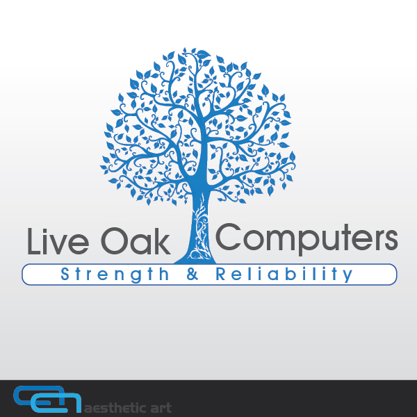 Logo Design by aesthetic-art - Entry No. 7 in the Logo Design Contest Live Oak Computers.