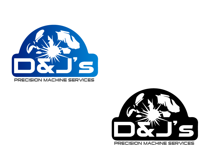 Logo Design by Private User - Entry No. 74 in the Logo Design Contest Creative Logo Design for D & J's Precision Machine Services.