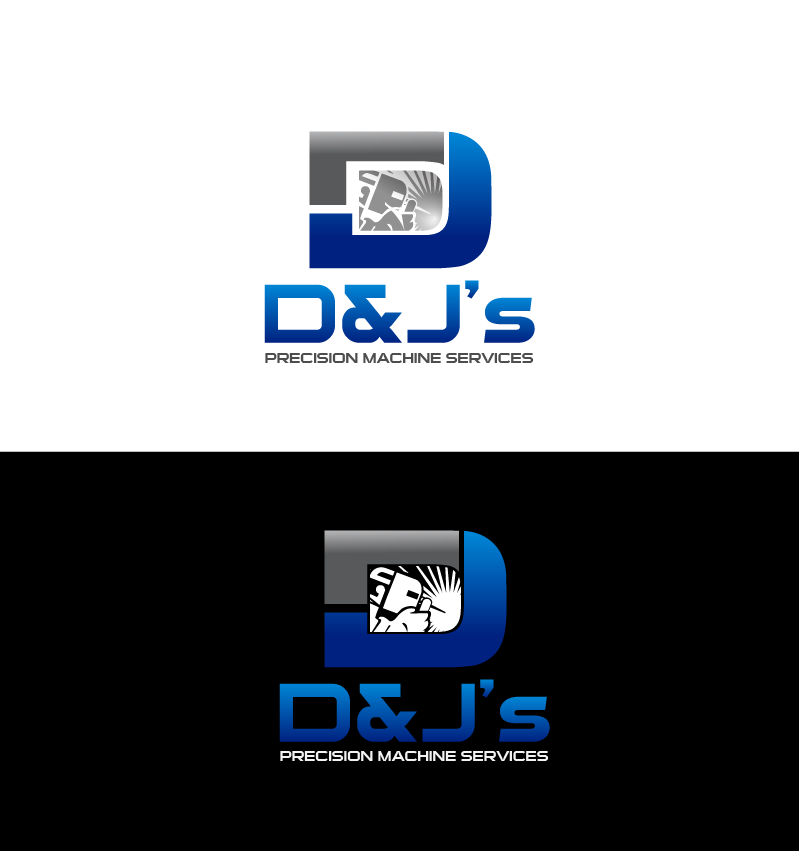 Logo Design by Private User - Entry No. 75 in the Logo Design Contest Creative Logo Design for D & J's Precision Machine Services.