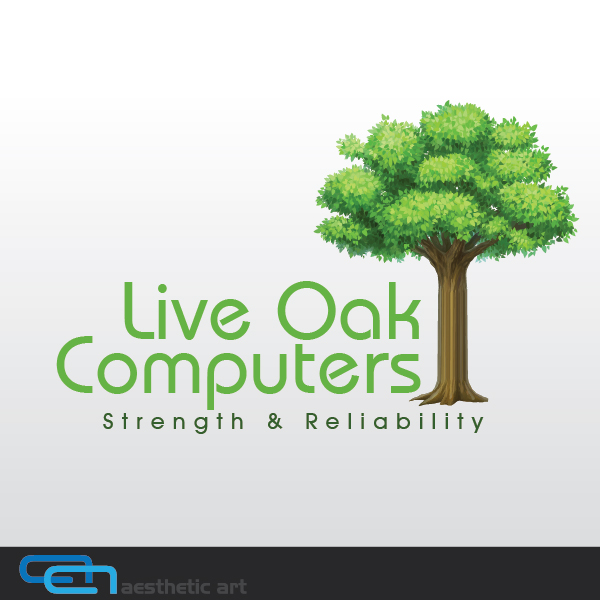 Logo Design by aesthetic-art - Entry No. 8 in the Logo Design Contest Live Oak Computers.