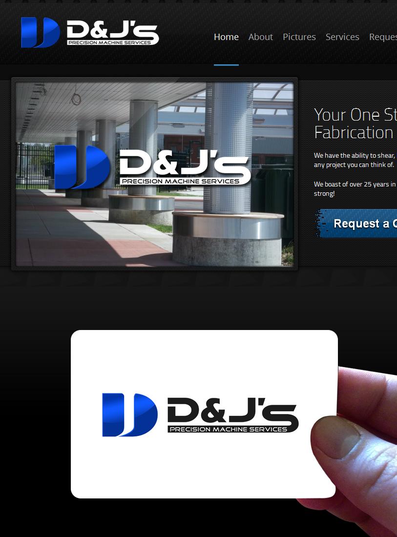 Logo Design by Private User - Entry No. 76 in the Logo Design Contest Creative Logo Design for D & J's Precision Machine Services.