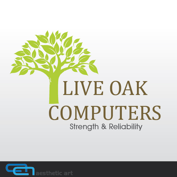 Logo Design by aesthetic-art - Entry No. 9 in the Logo Design Contest Live Oak Computers.
