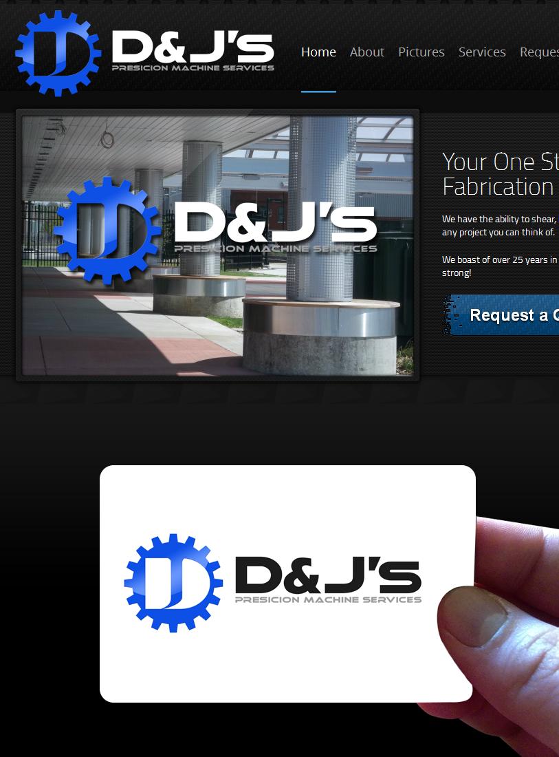 Logo Design by Private User - Entry No. 77 in the Logo Design Contest Creative Logo Design for D & J's Precision Machine Services.