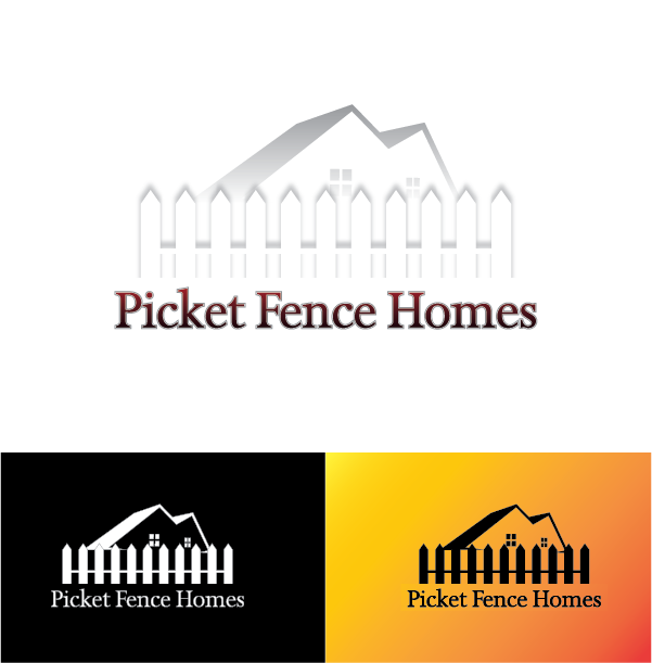 Logo Design by Chris Cowan - Entry No. 10 in the Logo Design Contest Picket Fence Homes Logo Design.